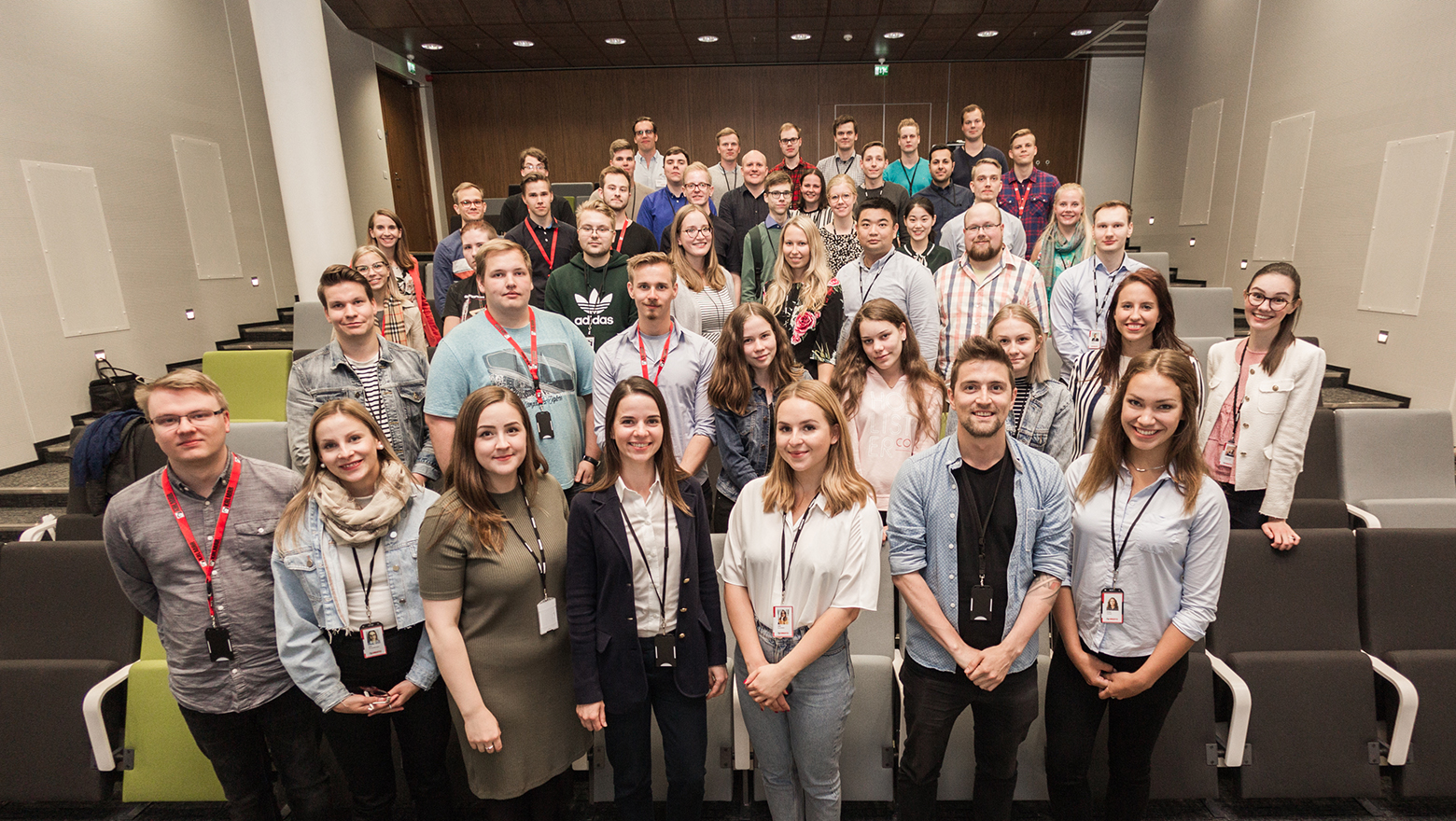 Image: trainees at Cargotec Finland, summer 2018